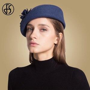 Image 3 - FS 100% Australian Wool Felt BeretsสุภาพสตรีศิลปินBeretหมวกสำหรับสุภาพสตรีหมวกCasual Boinaดอกไม้หมวกBoina Femininoหมวก