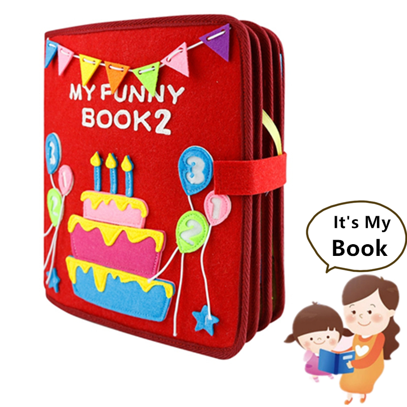 2020 DIY Felt Cloth Quiet Book Montessori My Funny Book Non-finished Handmade Picture Book Baby Special Birthday Gifts For Kids