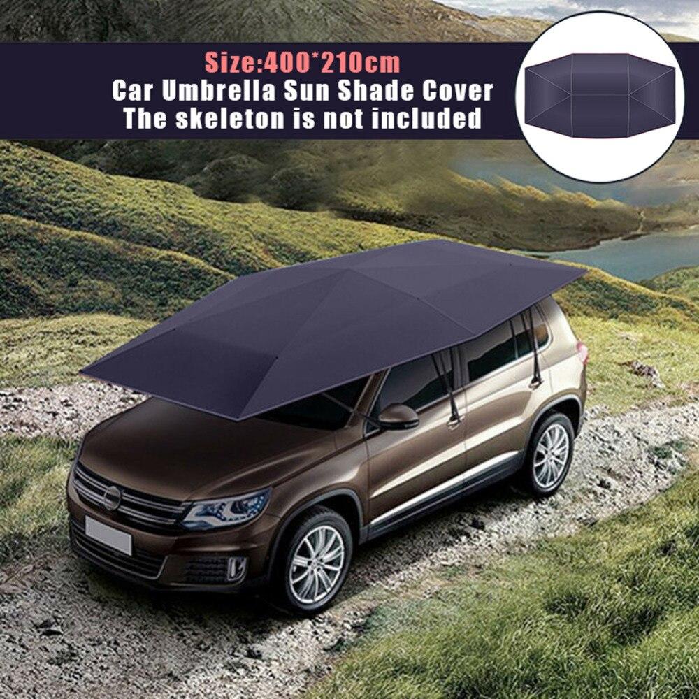 ユニバーサル 400*210 センチメートル車のテント布抗 uv 保護自動傘サンシェードカバーポータブルオックスフォード布色あせしないカバー