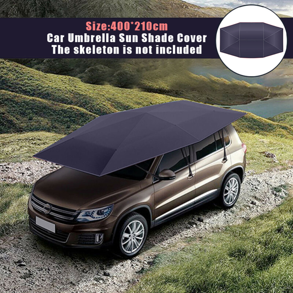 Universal 400*210cm Car Tent Cloth Anti-UV Protection  Auto Umbrella Sun Shade Cover Portable Oxford Cloth Sunproof Cover