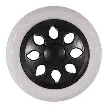 Black White Plastic Core Foam Shopping Trolley Cartwheel Casters