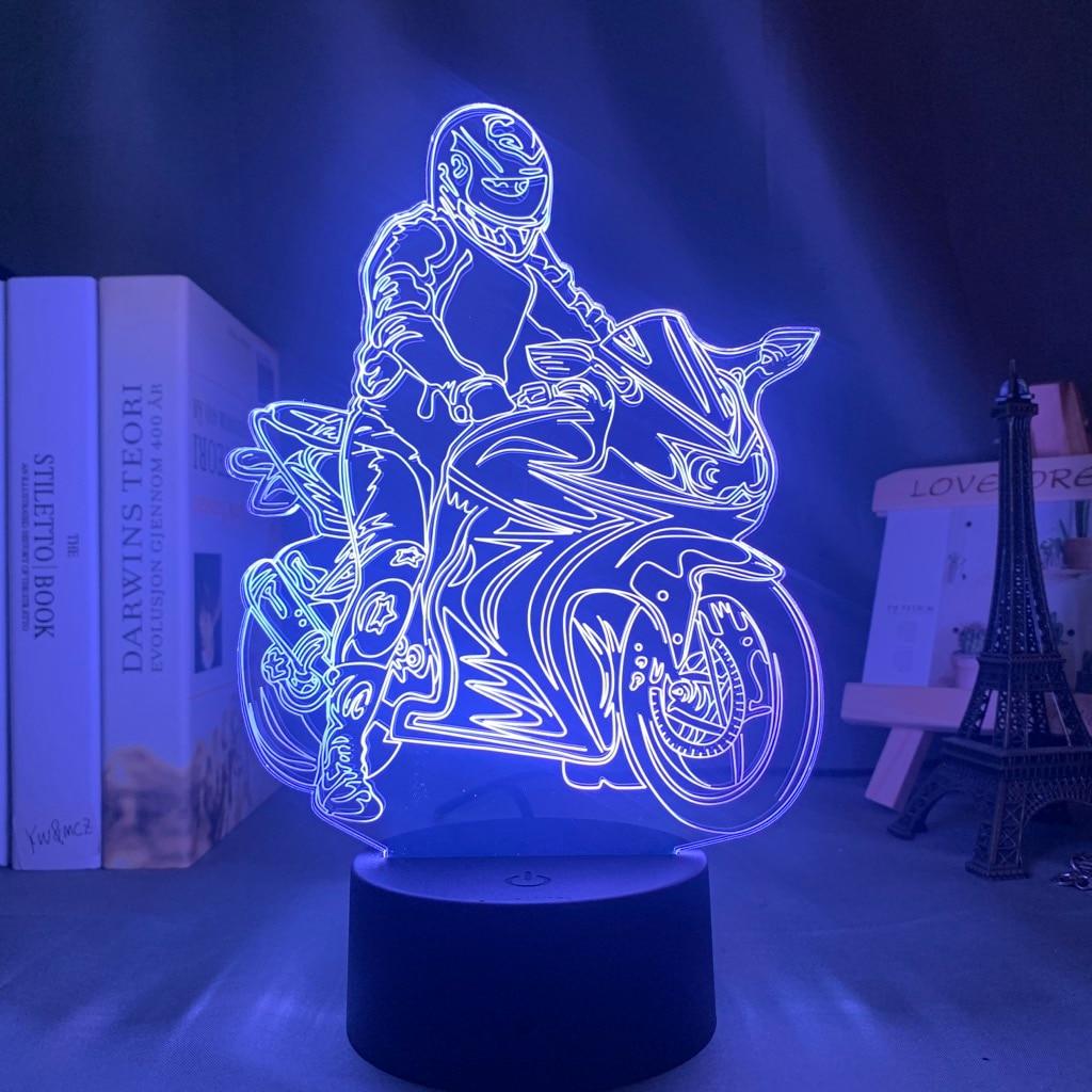 3D лампа для мотоциклиста Джонатан реа фигурка Ночник светильник для украшения дома комнаты крутые вентиляторы подарок на день рождения све...