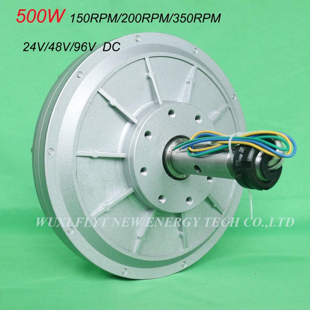 FLTXNY 500W 24v 48v 96v Coreless ac Rare Earth Permanent Magnet Generator Low RPM 150rpm/200rpm/350rpm 0.5kw Maglev Generator