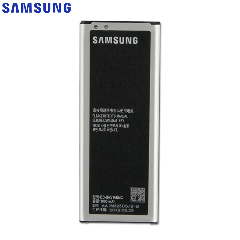 Samsung Original EB-BN916BBC/BE <font><b>Battery</b></font> For Samsung GALAXY NOTE4 N9100 N9108V N9109V <font><b>NOTE</b></font> <font><b>4</b></font> Replacement Phone <font><b>Battery</b></font> <font><b>3000mAh</b></font> image