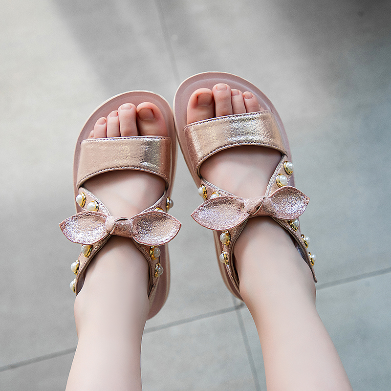 2020 Summer Kids Children Fashion Bowknot Girls Flat Pricness Shoes Baby Shoes Toddler Shoes Children's Flat Shoes