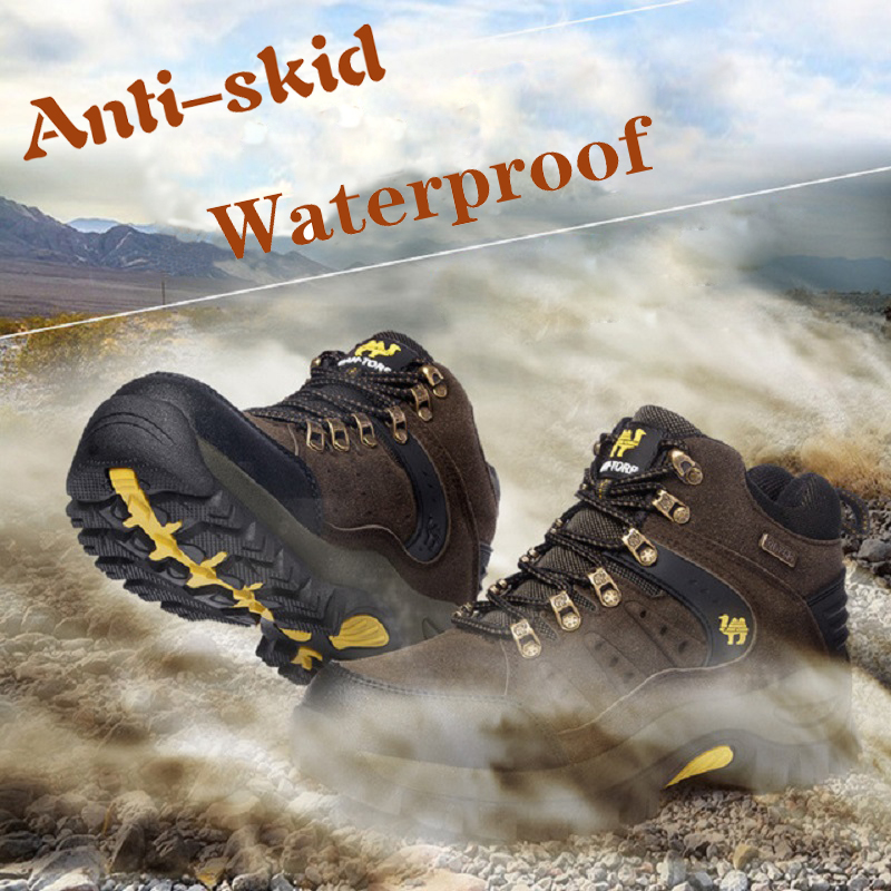 Waterproof Couples Outdoor Mountain Desert Climbing Shoes Men  Ankle Hiking Boots Fashion Classic Trekking Footwear Sneakers