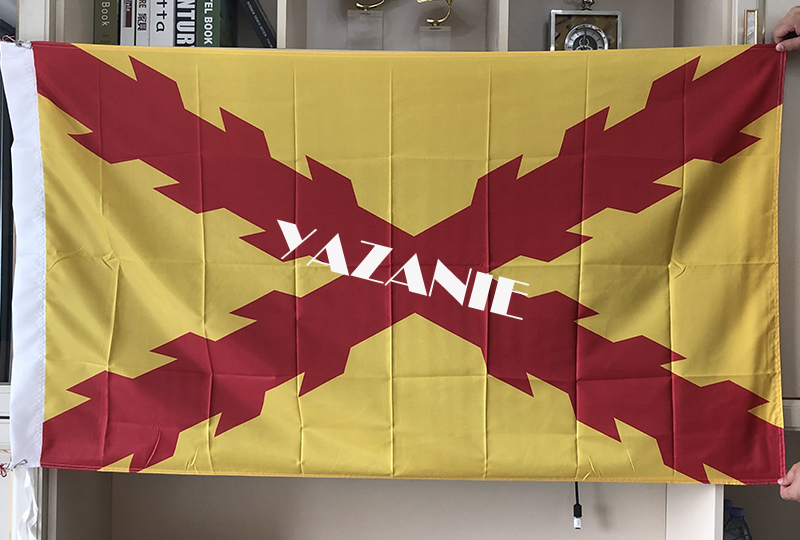 INTERNATIONAL BRIGADES SPANISH REPUBLIC FLAG 3/' x 5/' for a pole SPAIN REPUBLIC