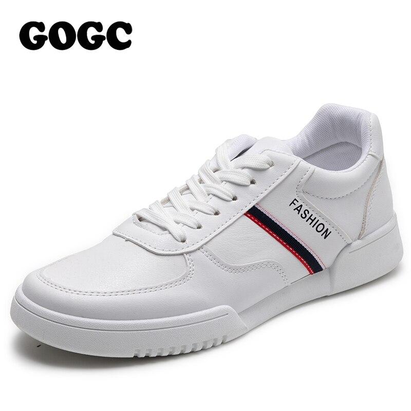 2020 Spring New Men Casual Black Shoes Mens Slip On Shoes Summer White Men's Shoes Sneakers Men Shoes Leather Shoes For Men 6822