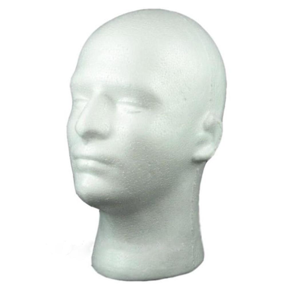 Female Male Mannequin Head White Polystyrene Styrofoam Foam Head Model Stand Wig Hair Hat Headset Display Stand Rack| |   -
