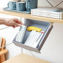 Mesa sob pasta de plástico organizador de mesa memo caneta papelaria caixa de armazenamento caso gavetas de armazenamento em casa ferramentas de armazenamento