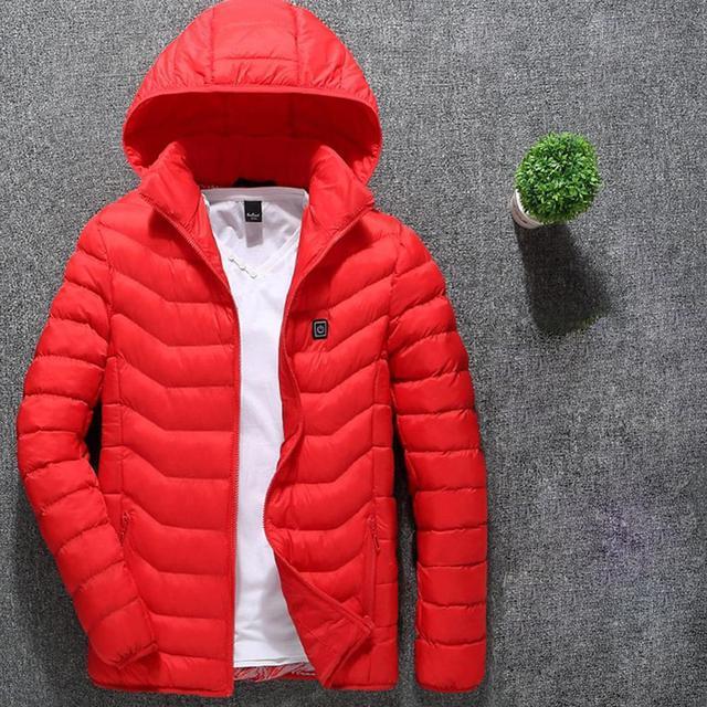 Heated Biker Jacket with Hoodie 4