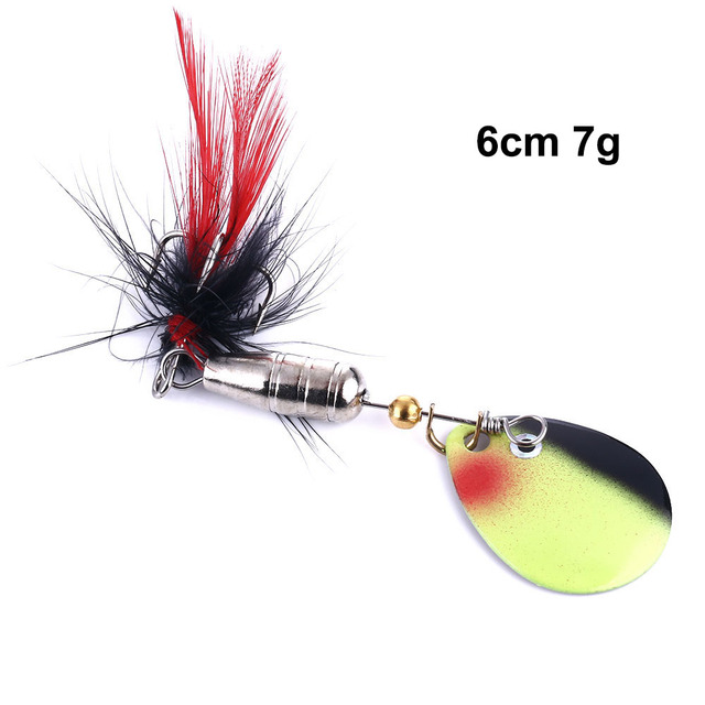 5pcs Sequins Lures Rooster Tail Spinners Lures Spinners Baits Kit with Box