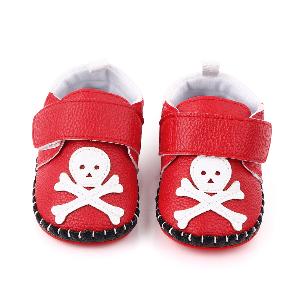New Summer PU Leather Baby Shoes Fashion Cartoon Skull Baby Boy Girl Shoes Rubber-soled Newborn Toddlers Shoes In First Walkers