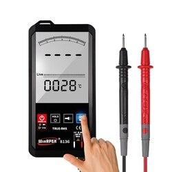 Мультиметр с сенсорным экраном 6000 отсчетов ЖК-дисплей автоматическое напряжение переменного тока постоянного тока NCV истинное RMS темп Сопр...