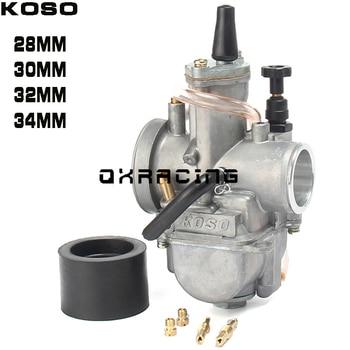 Carburador Universal para motocicleta, 28 30 32 34mm, con Power Jet para moto de carreras Koso