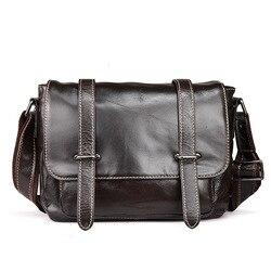 Кожаная мужская сумка английская почтальонская сумка Модная Повседневная деловая сумка-мессенджер из вощеной кожи