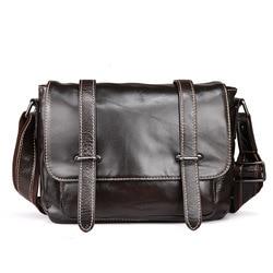 Leather Men's Bag England Postman Bag Fashion Casual Business Shoulder Messenger Bag Oil Wax leather