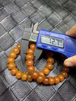 ECHSUN pure natural amber old mine 13mm bracelet pulseras pulseira armband unisex jewelry handmade retail wholesale