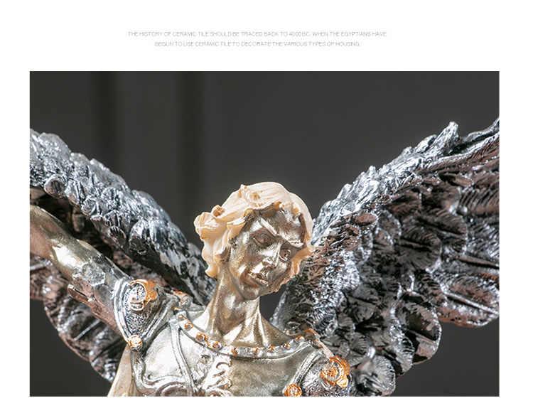 Aisoway Resina dea Greca Statua Arte Artigianato Intaglio casa Acquario Decor Figurine Scultura