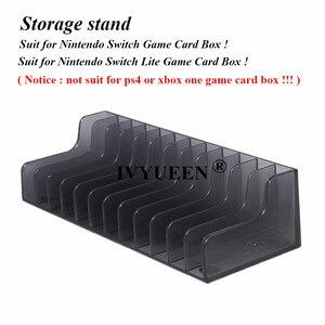 Image 2 - IVYUEEN 1 pcs עבור Nintend מתג NS קונסולת משחק כרטיס תיבת אחסון Stand מחזיק עבור NintendoSwitch לייט דיסקים כרטיס מחזיק stand