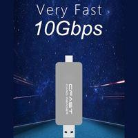 card reader CFast Card Reader USB3.1 Dual Port USB-A USB-C Portable GEN2 10Gbps CFast Reader (1)