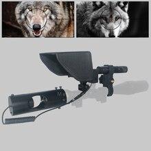 تحديث جديد حار في الهواء الطلق الصيد البصرية البصر التكتيكية Riflescope الأشعة تحت الحمراء الرقمية للرؤية الليلية مع ظلة ل Riflescope