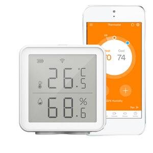 WiFi Smart Temperature Humidity Sensor Compatible Long Range Wireless Digital Hygrometer Indoor Thermometer Humidity Meter
