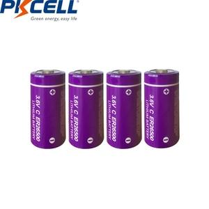 Image 2 - 20Pcs/PKCELL 3.6V C size Lithium Battery ER26500 9000Mah Li SOCl2 Battery