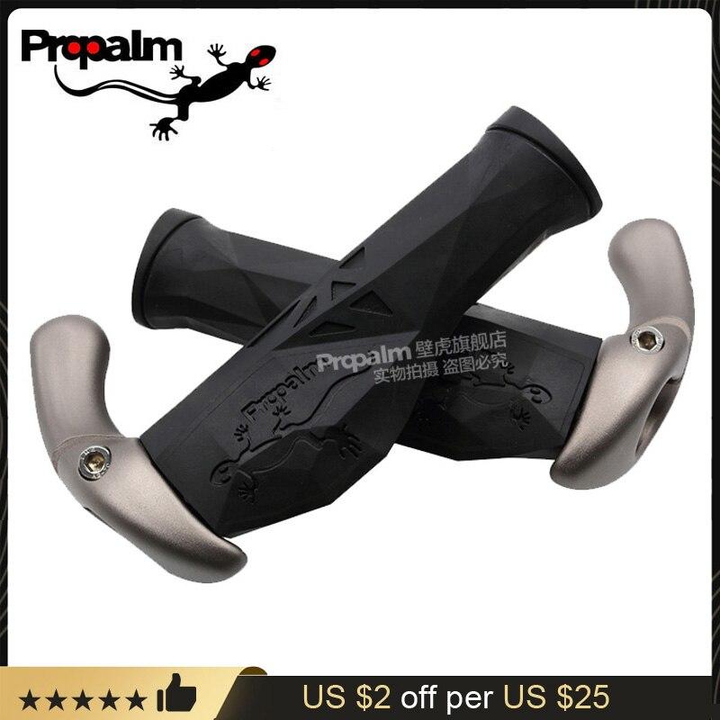 Профессиональные велосипедные Грипсы Propalm Gecko F1980EP2, руль для горного велосипеда, резиновая рукоятка из ТПР для горного велосипеда, фиксирую...
