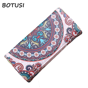 BOTUSI 2018 Luxury Brand Famous Women Wallets and Purses Cash Long Wallet Female Travel Card Holder Cellphone Clutch Pocket(China)
