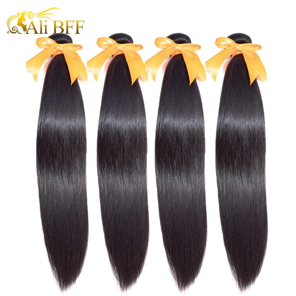 ALI BFF Wholesale Straight Hair 100% Human Hair 1/3/4 Bundles For Hair Salon Indian Hair Straight Remy Hair Extension