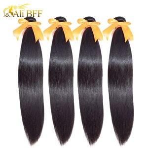 ALI BFF wholesale Straight Hair 100% Human Hair 1/3/4 Bundles for hair salon Indian Hair Straight Remy Hair Extension(China)