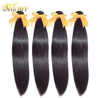 Ali BFF прямые волосы для наращивания 100% человеческие волосы пучки натуральный цвет 1/3/4 пучки индийские волосы прямые волосы Remy