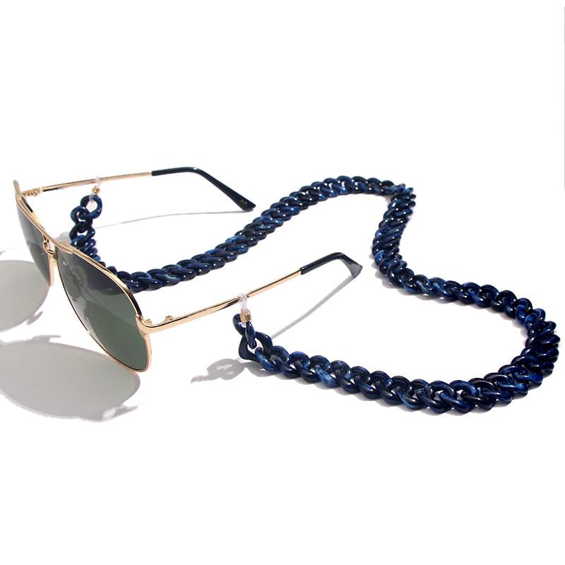 Flatfoosie модная акриловая цепочка для солнцезащитных очков цепочка для очков для чтения подвесной держатель для шеи ремешки с петлей аксессуары для очков 68 см - Цвет: 05BL
