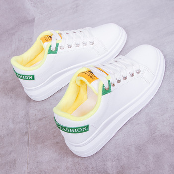 Autumn Winter White Shoes Woman Casual Loafers Fashion Sneakers Women Warm Low-cut Shoes Ladies New High Quality Cotton Shoes