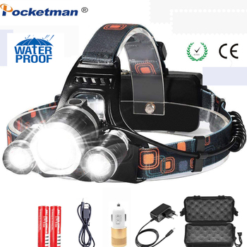 fenix hl23 150 lumens compact adventure proof led headlamp 8000 Lumens Bright 5 Led Headlamp XML T6 Powerful Taclical Torch Led Headlight with 18650 battery Flashlight Lights for Camping