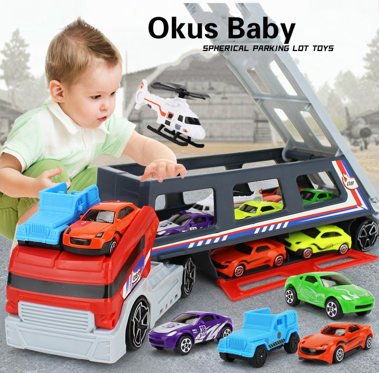2019 Big Size Racing Storage Car Toy Children's Truck Racing Airplane Model Toy For Kids Gift image