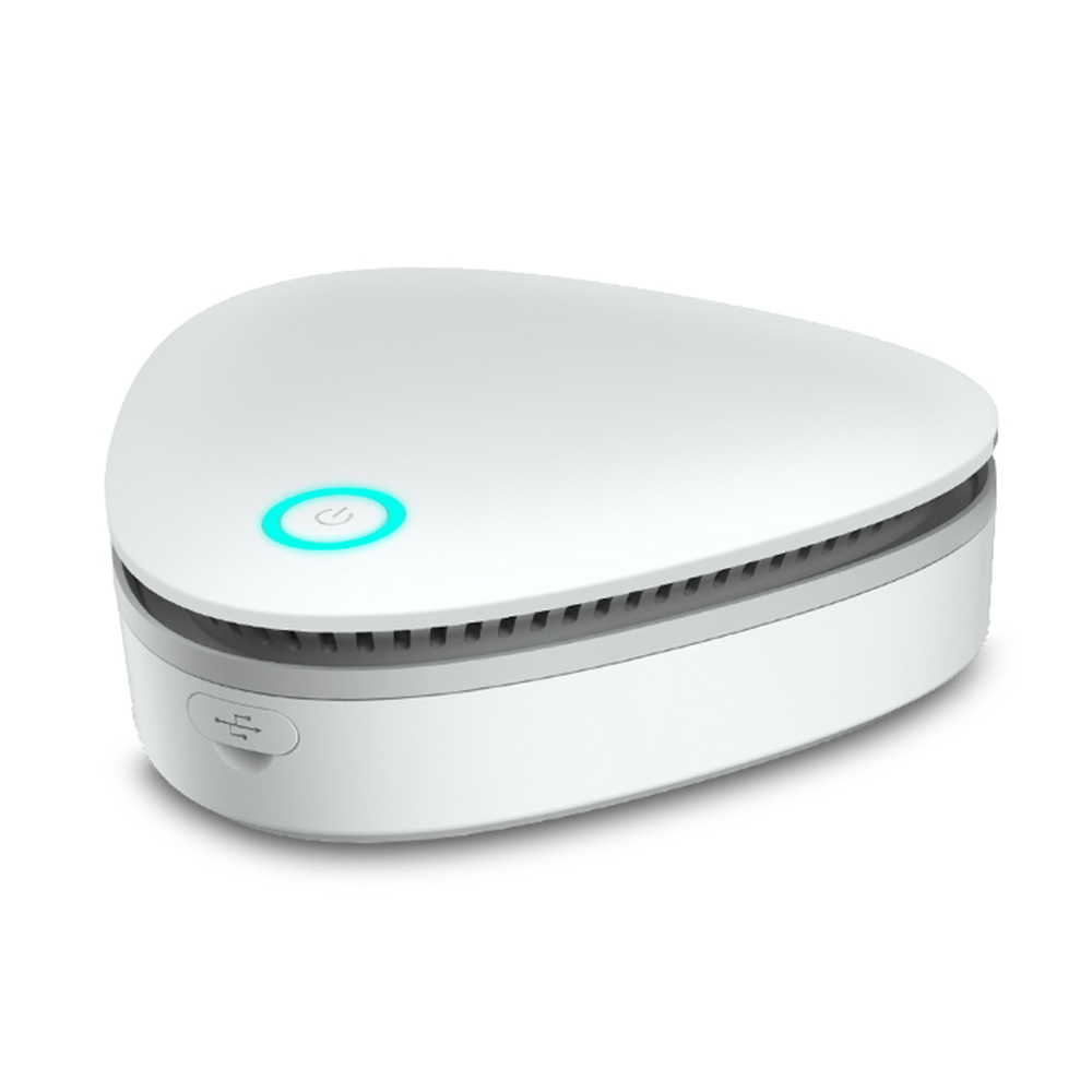 BORUiT Mini generador de ozono desodorante purificador de aire USB recargable nevera Purificador Portátil aire pequeño espacio claro olor Generador de ozono para aire 30g 50 g/h 110/220V, purificador de aire, esterilizador, ozonizador, portátil, esterilizador con interruptor de sincronización