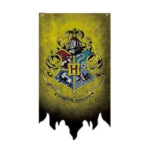 Banners meninos meninas hogwart suprimentos har decoração de aniversário natal bandeira wizardry dia das bruxas pott presente escola crianças bruxaria
