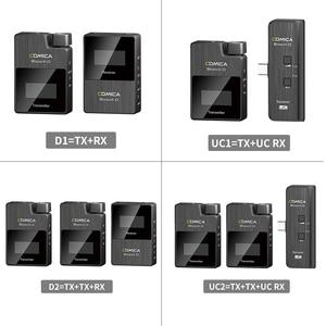Image 2 - Comica BoomX D 2.4G הדיגיטלי אלחוטי מיקרופון משדר ערכת מיני נייד מיקרופון מקלט עבור טלפונים חכמים וידאו מיקרופון