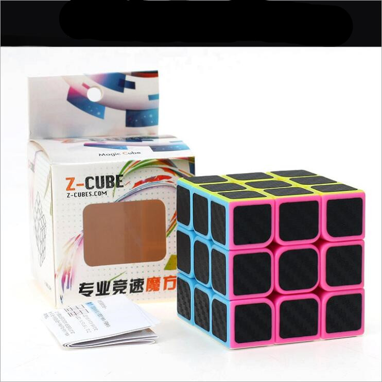 ZCUBE Magic  Cube Speed Cube 3x3x3 Smooth Magic Carbon Fiber Sticker Rubix Speed Cube Cool Children Toys Kids Gifts