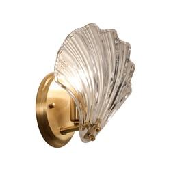 Shell kinkiet Post nowoczesne światło luksusowy salon kinkiet sypialnia lampki nocne miedzi oświetlenie alejek Wy111800015