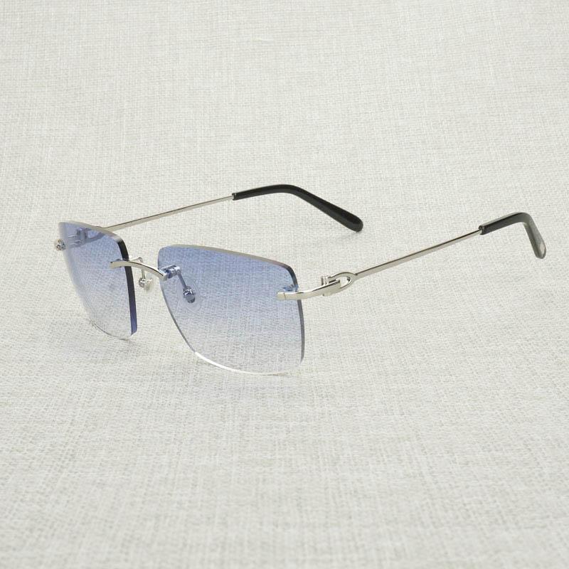 Vintage sem aro óculos de sol masculino feminino armação de metal óculos quadrados máscaras oculos gafas para acessórios de clube ao ar livre 011b