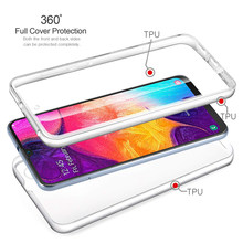 360 dupla Caso de Telefone de Silicone Para Samsung J2 J3 J5 J7 A3 A5 A7 2015 2016 2017 J2 pro J4 J6 J8 Plus 2018 G360 G530 Abranger Os Casos