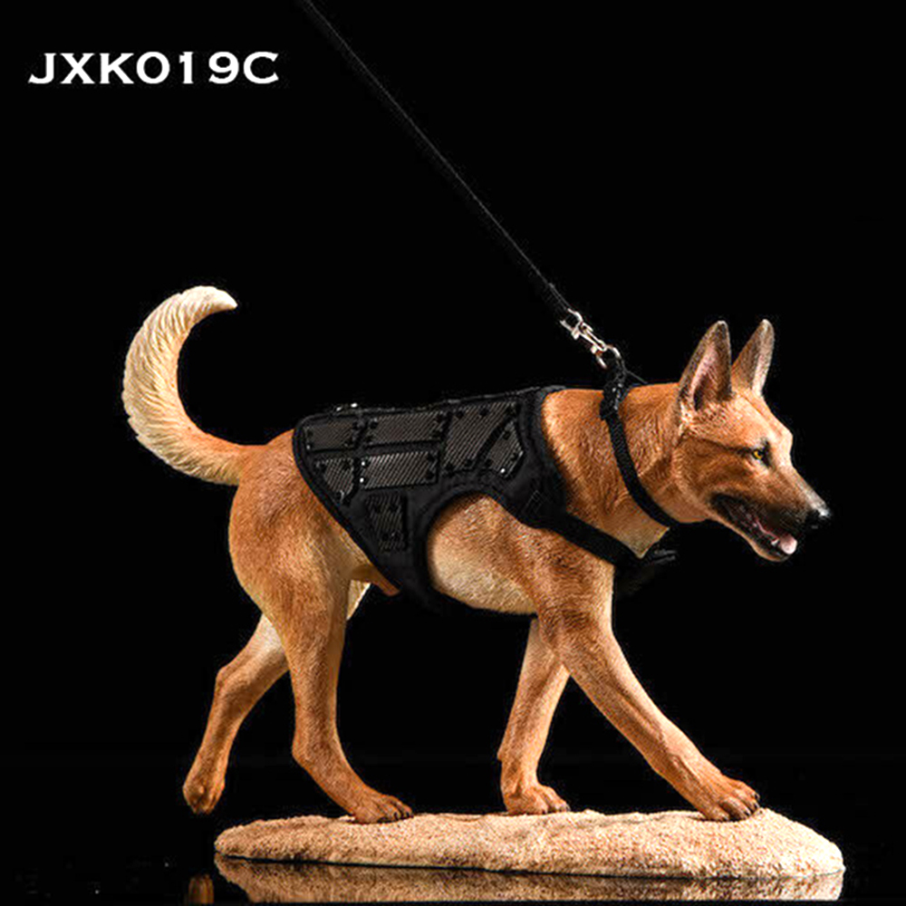 <font><b>1/6</b></font> <font><b>Scale</b></font> Collectible Pet <font><b>Dog</b></font> JXK019 <font><b>1/6</b></font> Malinois Model Resin Animal Figure w/ Suit for 12 inches Action Figure Accessories image