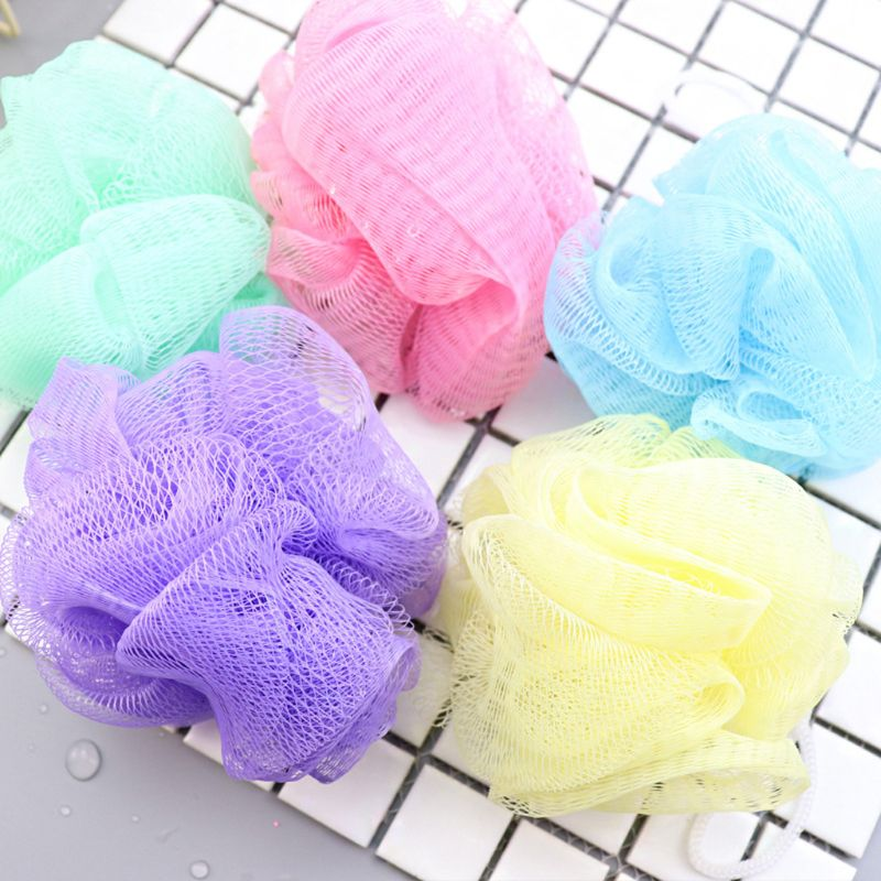 1Pc Flower Mesh Bath Puff Body Exfoliating Massage Scrubber Shower Ball Sponge