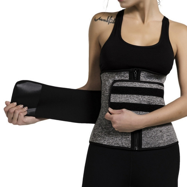 Sports fitness abdomen corset shaping belt Waist Trainer Corset Sweat Belt For Women Weight Loss Compression Trimmer Workout New 4