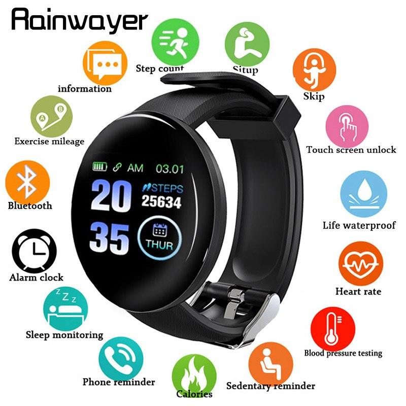 Smart Wristband Blood Pressure Heart Rate Measurement D18 Bluetooth Smart Bracelet Sport Tracker Smart Watch D13 Smartwatch A2