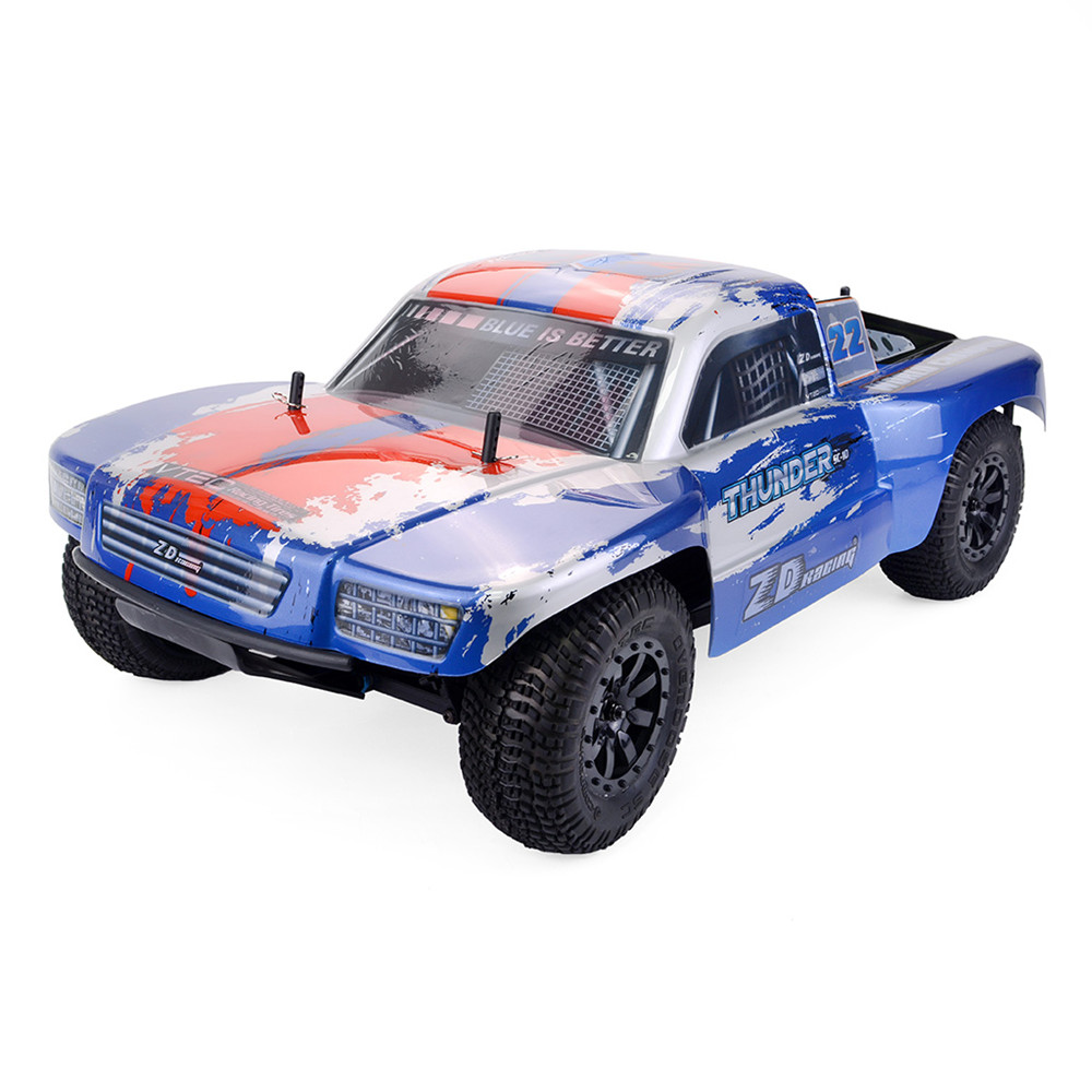 ZD Racing Thunder SC-10 RC Car 1:10 2.4Ghz 4WD Radio Control Car 55km/h RC Car Electric Brushless Short Course Vehicle RTR Model