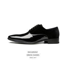 DECARSDZ Men Dress Shoes Man 2021 Spring Autumn Fashion Shoes Men Comfy Office Brand Leather Comfy Lace up Men Formal Shoes